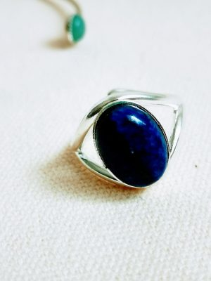Bague argent lapis lazuli ANAÏS
