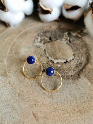 Boucles d'oreilles SARAH lapis lazuli
